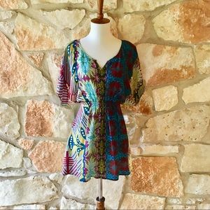 Anthropologie Penthesilea Silk Fei tunic top